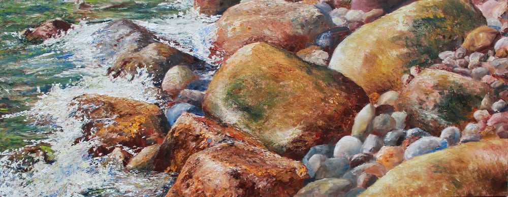 Image of - Shoreline Rocks - [ SOLD ]