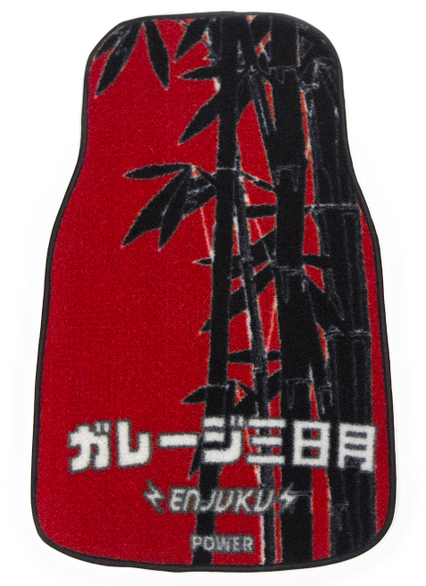 Image of Garage Moon Power X Enjuku Racing Collaboration Floormats - Red