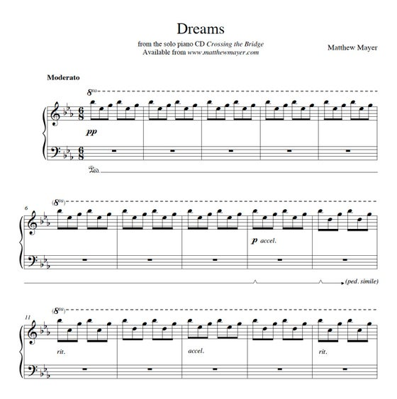 Image of NEW - Dreams Sheet Music