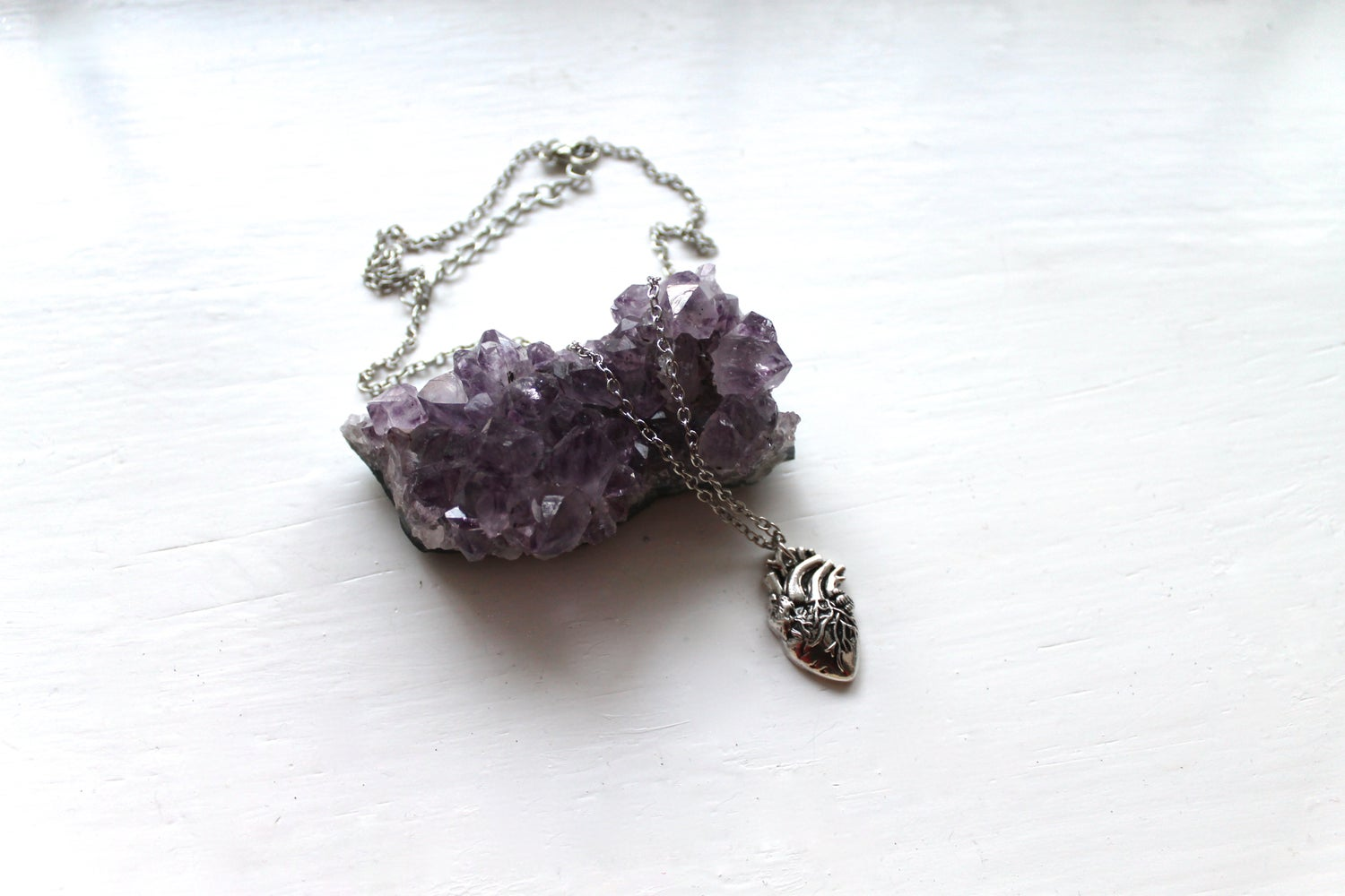 Image of Anatomical Heart Necklace (Originally $26)