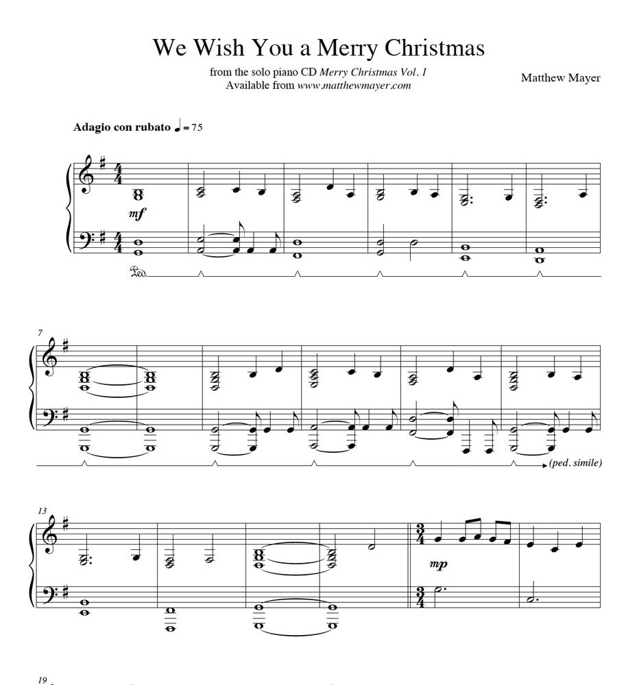 We Wish You A Merry Christmas Piano.New We Wish You A Merry Christmas