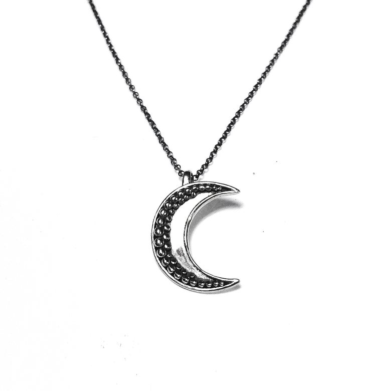 Image of Big Moon necklace in sterling silver or 14k gold