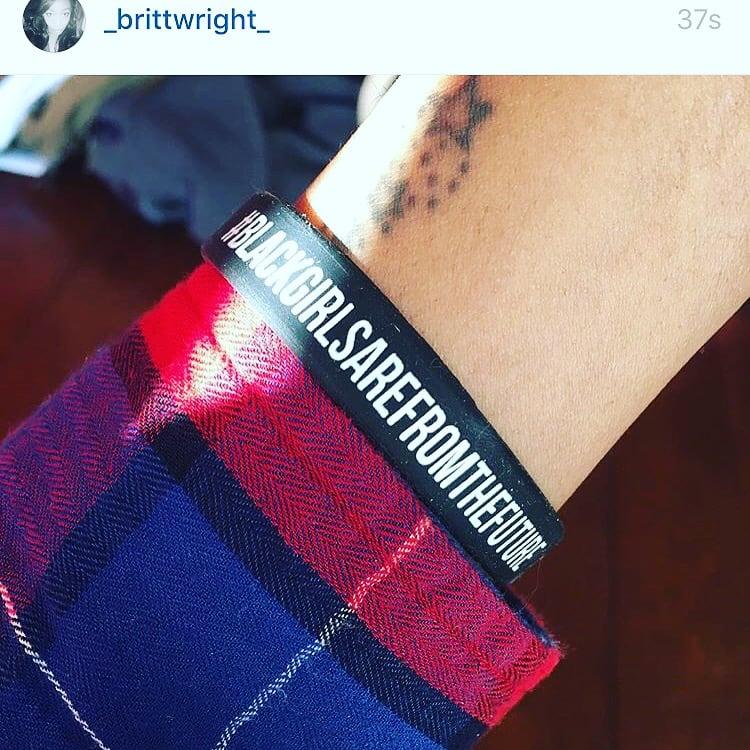 Image of #BlackGirlsArefromtheFuture Wrist Bands