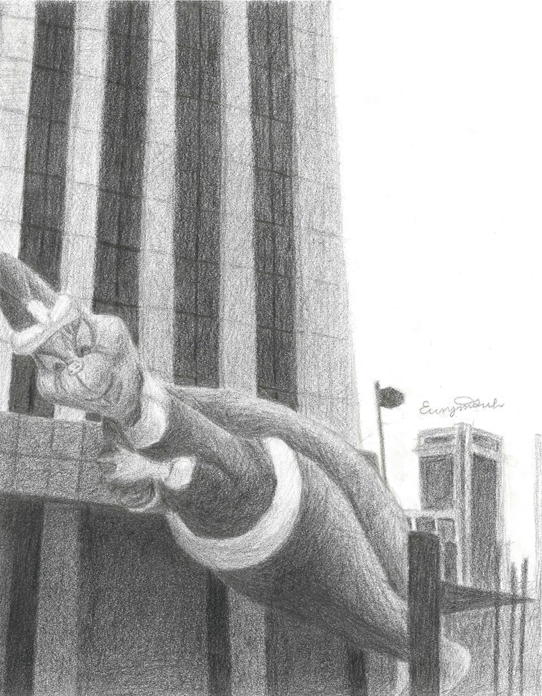 Image of Mr. Grinch Is Coming To Town - Pencil Drawing