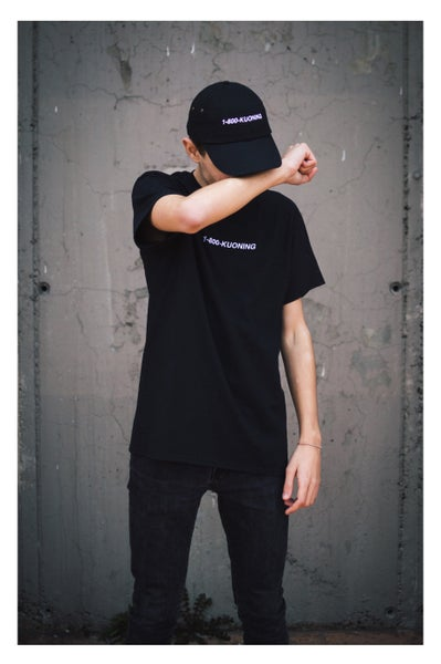 Image of 1-800-KUONING Tee Black