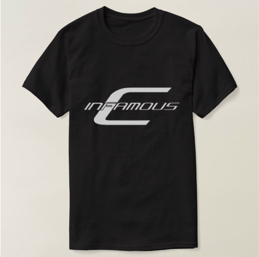 Image of Infamous-C - Logo Black Tee w/V.I.P. On Back