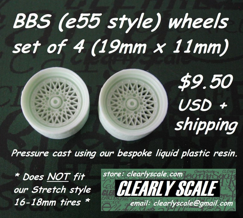 Image of BBS (e55 style) Wheels Set, 19mm x 11mm