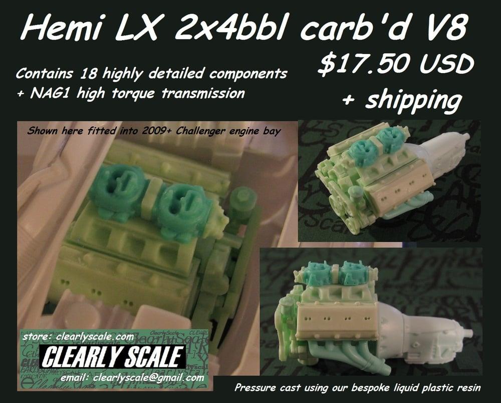 Image of Hemi LX 2x4bbl carb'd V8 Engine Set