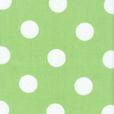 Ff Lime Green And White Polka Dot Outdoor Fabric