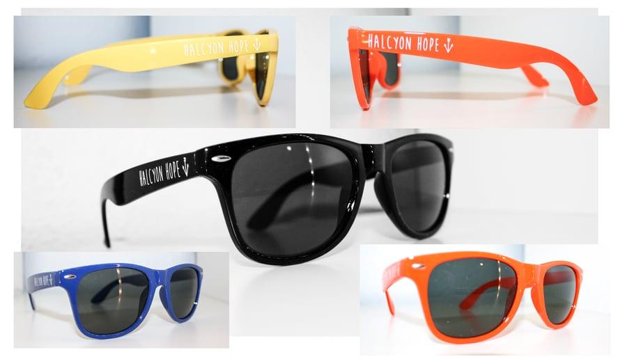 Image of Halcyon Hope -White Anchor Logo - Sunglasses