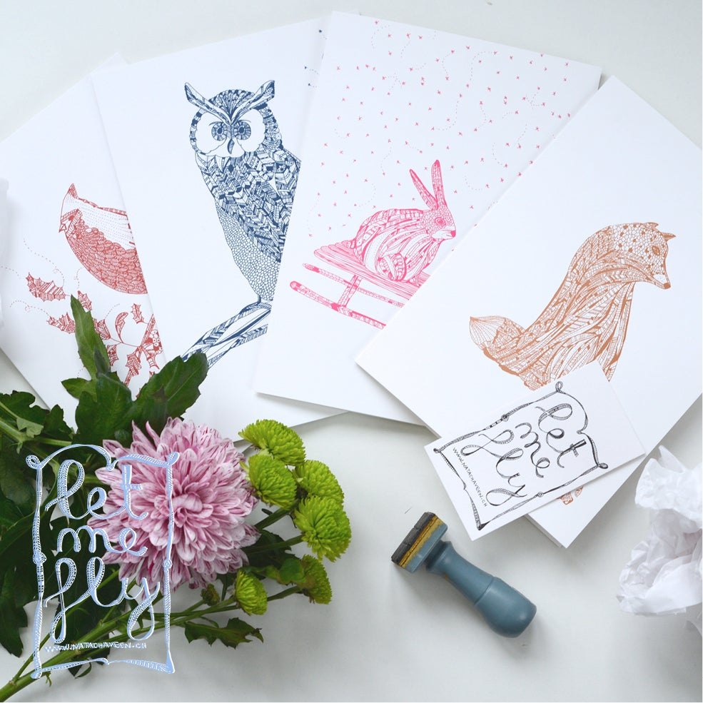 Image of PACK of 4 Christmas Greeting Card