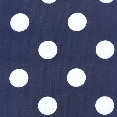 Fabric Freak Ff Navy Blue And White Polka Dot Outdoor Fabric