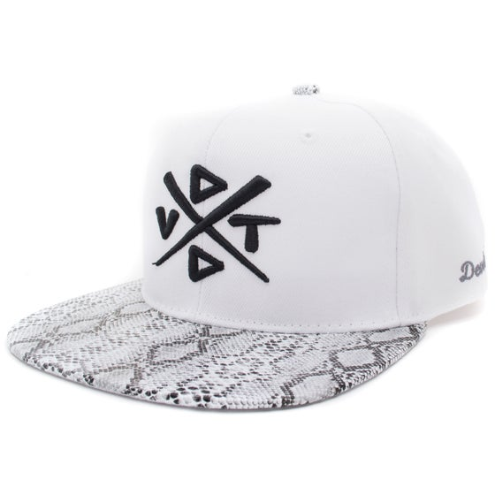Image of The Python Snapback - White