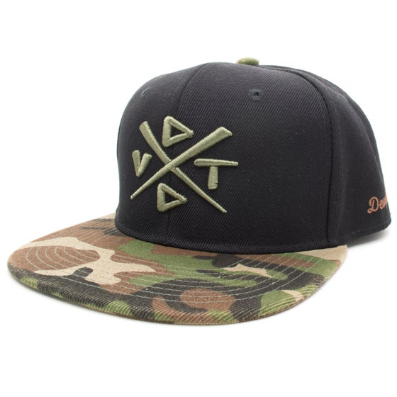 Image of The Camo Snapback - Black