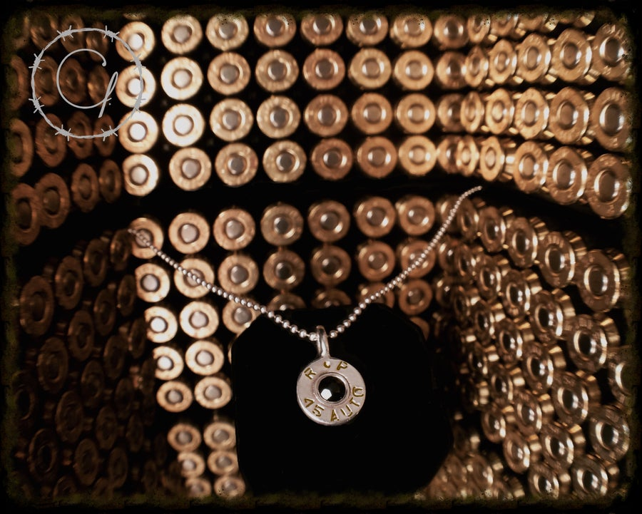Image of .45 ACP Golden Saber Pendant Necklace