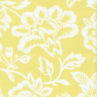 Image Of FF Sunny Yellow And White Floral Outdoor Fabric