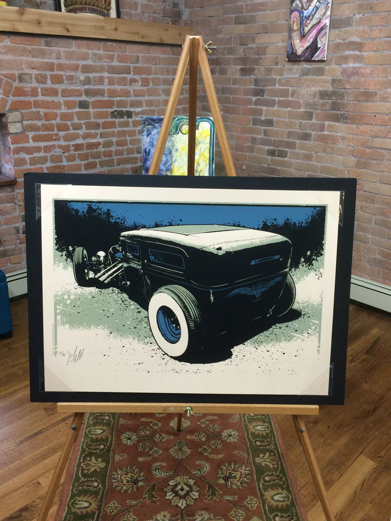 Image of Hot Rod • Blue Variant Art Print