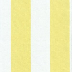 Image of FF Sunny Yellow and White Stripe Outdoor Fabric