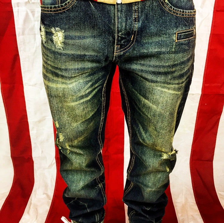 Image of Hotbread whiskey wash denim