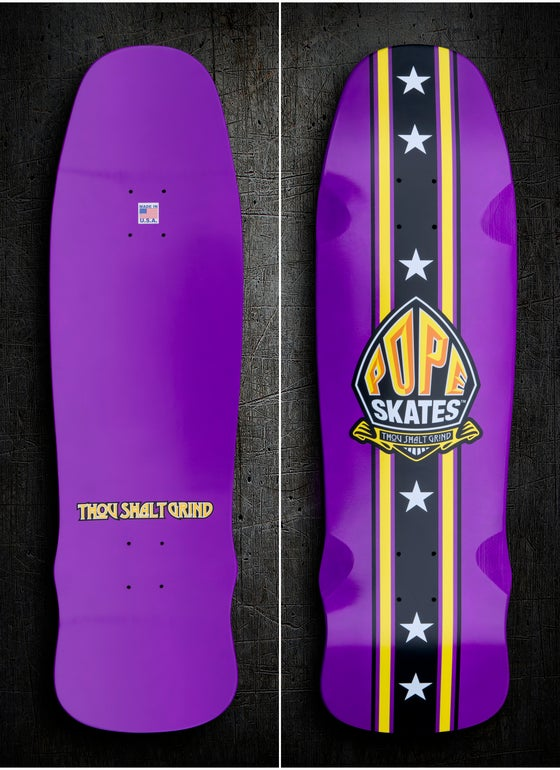 Image of Purple & Gold Stuntman Series Pool Deck