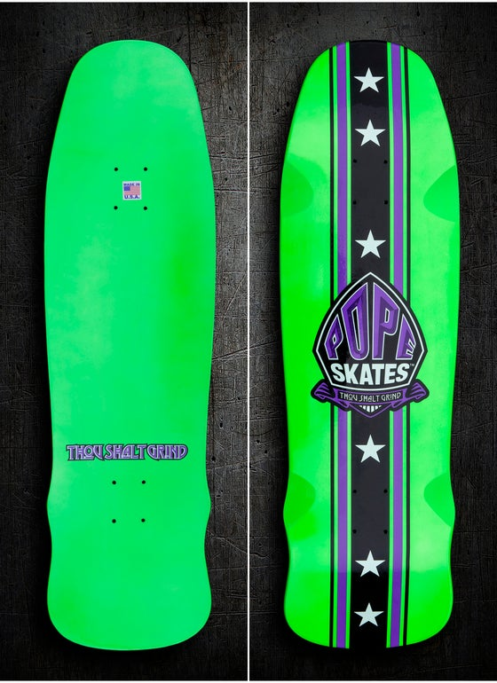 Image of Green & Purple Stuntman Series Pool Deck