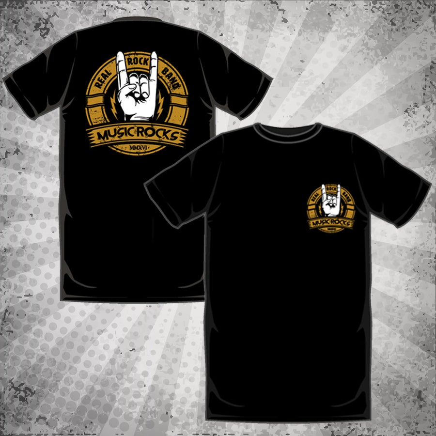Image of Music Rocks Australia T-Shirt (Metal Hands)