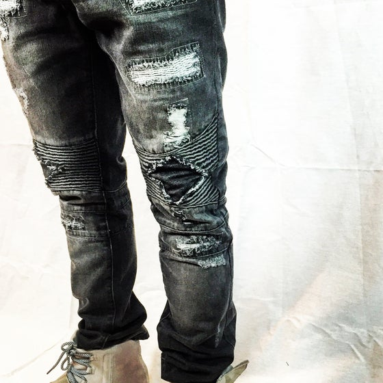 Image of HotBread blackout biker denim
