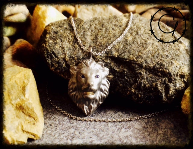 Image of We Are Lion, Not Sheep Pendant Necklace