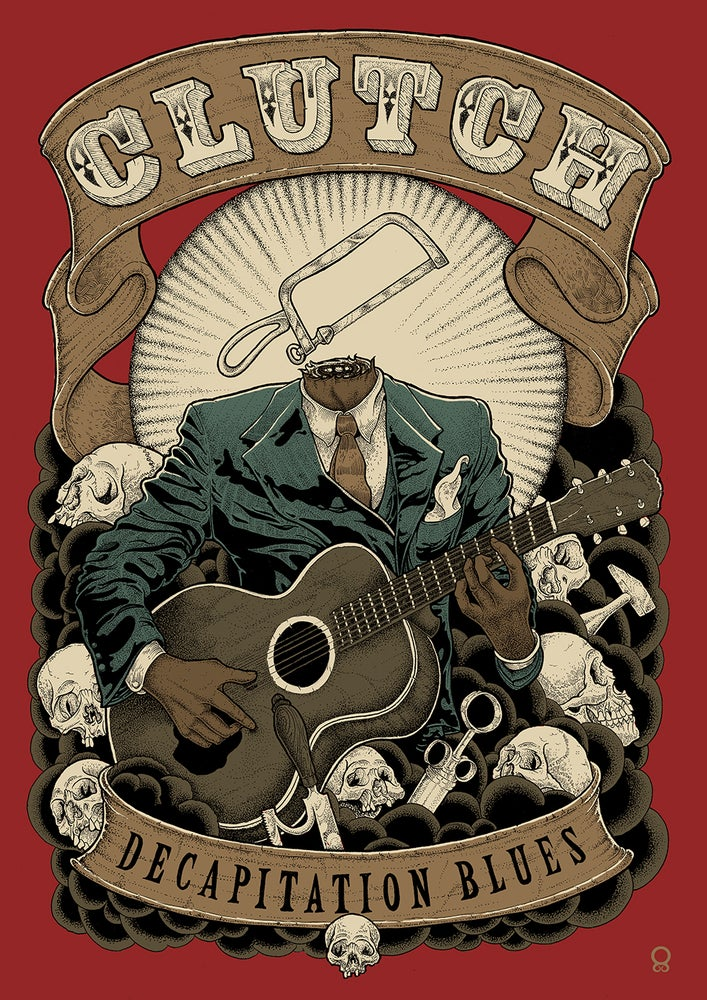 Image of Clutch 'Decapitation Blues' Giclée poster A/P EDITION