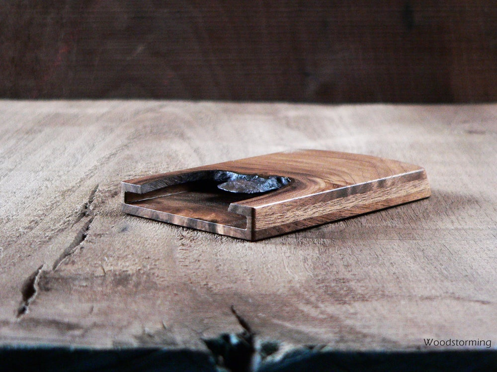 Woodstorming — Walnut business card holder - slim card case - unique ...