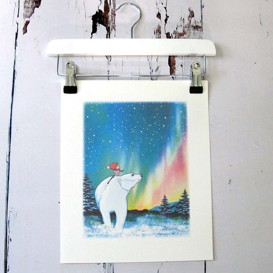 Image of Northern Lights unframed print