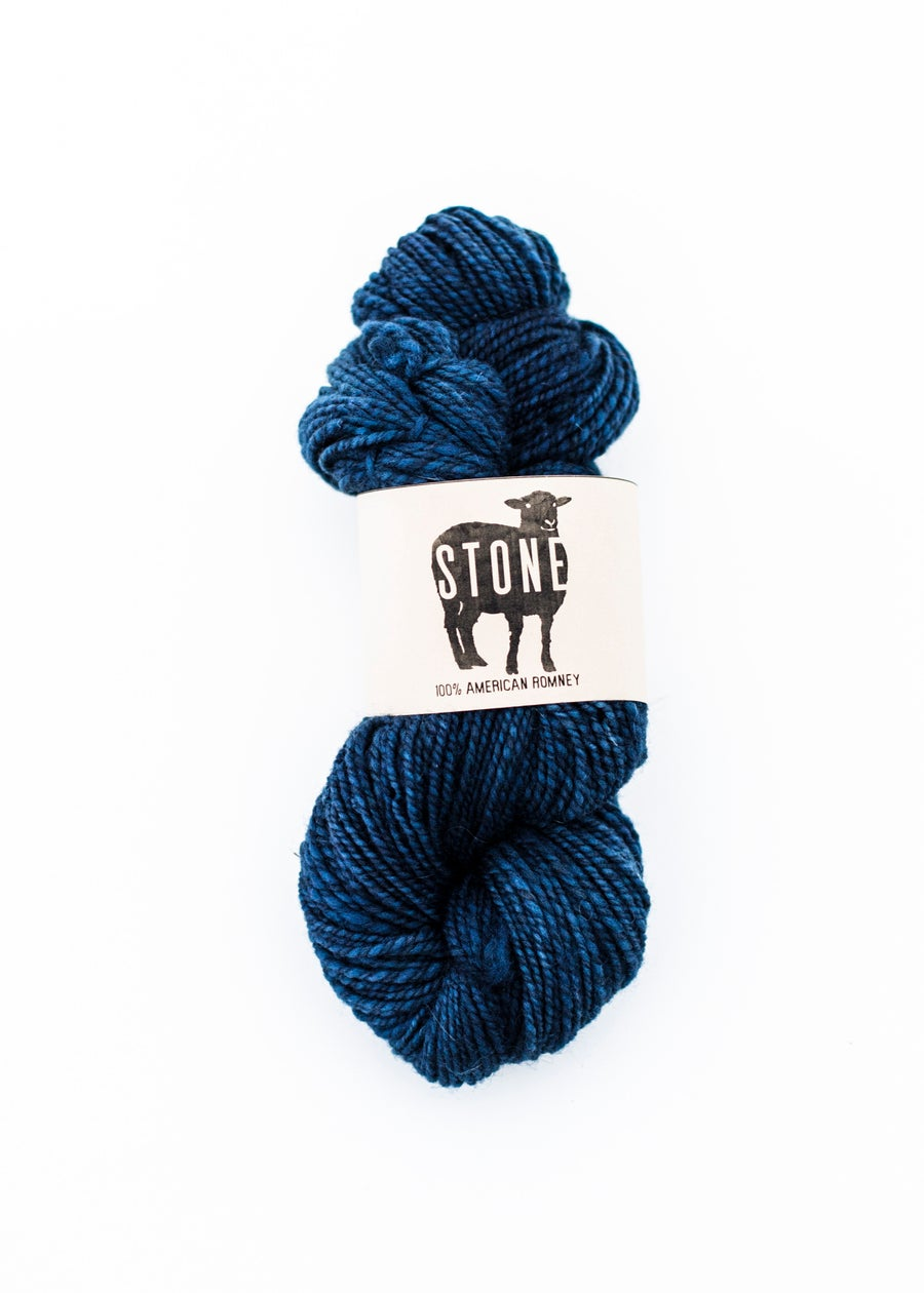 Image of Light Worsted Weight Indigo Dyed American Romney