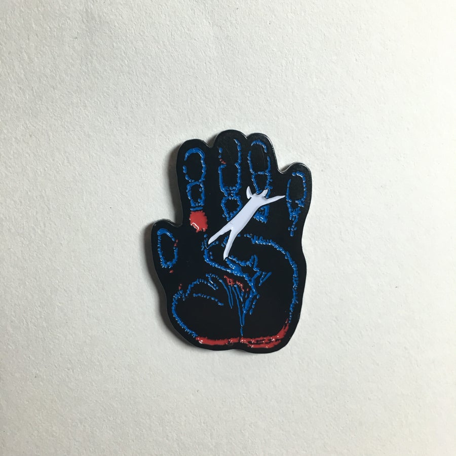 Image of Kirlian Hand Enamel Pin