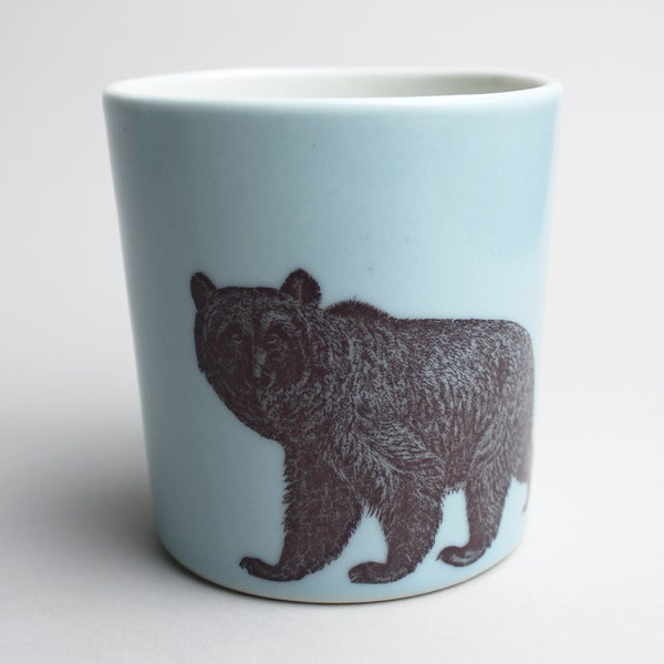 Image of 16oz mug with bear, <br />ocean