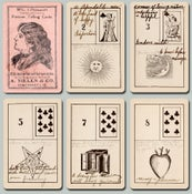 Image of  Nielen's LeNormand Fortune Telling Cards, c. 1920 Restored & Unrestored