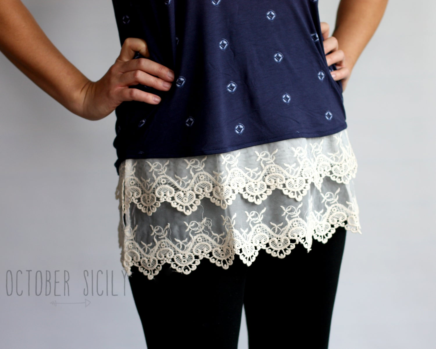 Image of FREESHIP Lace Top Shirt Extender *Style 2*