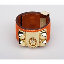 Image Of Hermes Iconic Leather Cuff Bracelet