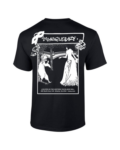 Image of Classic Black Cotton Masquerade T-Shirt