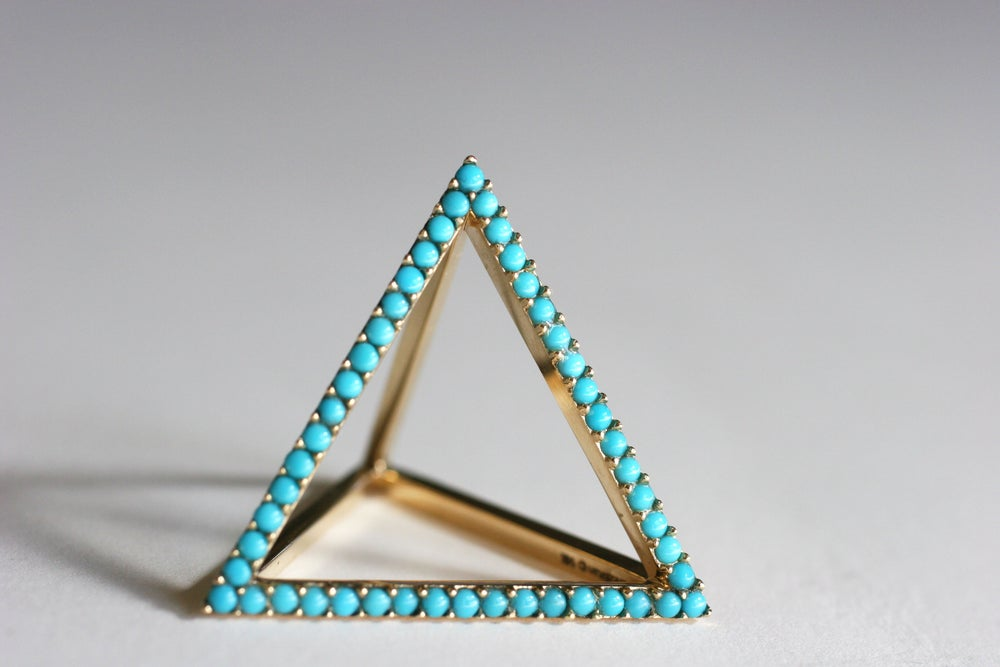 Image of Turquoise Pyramid Ring