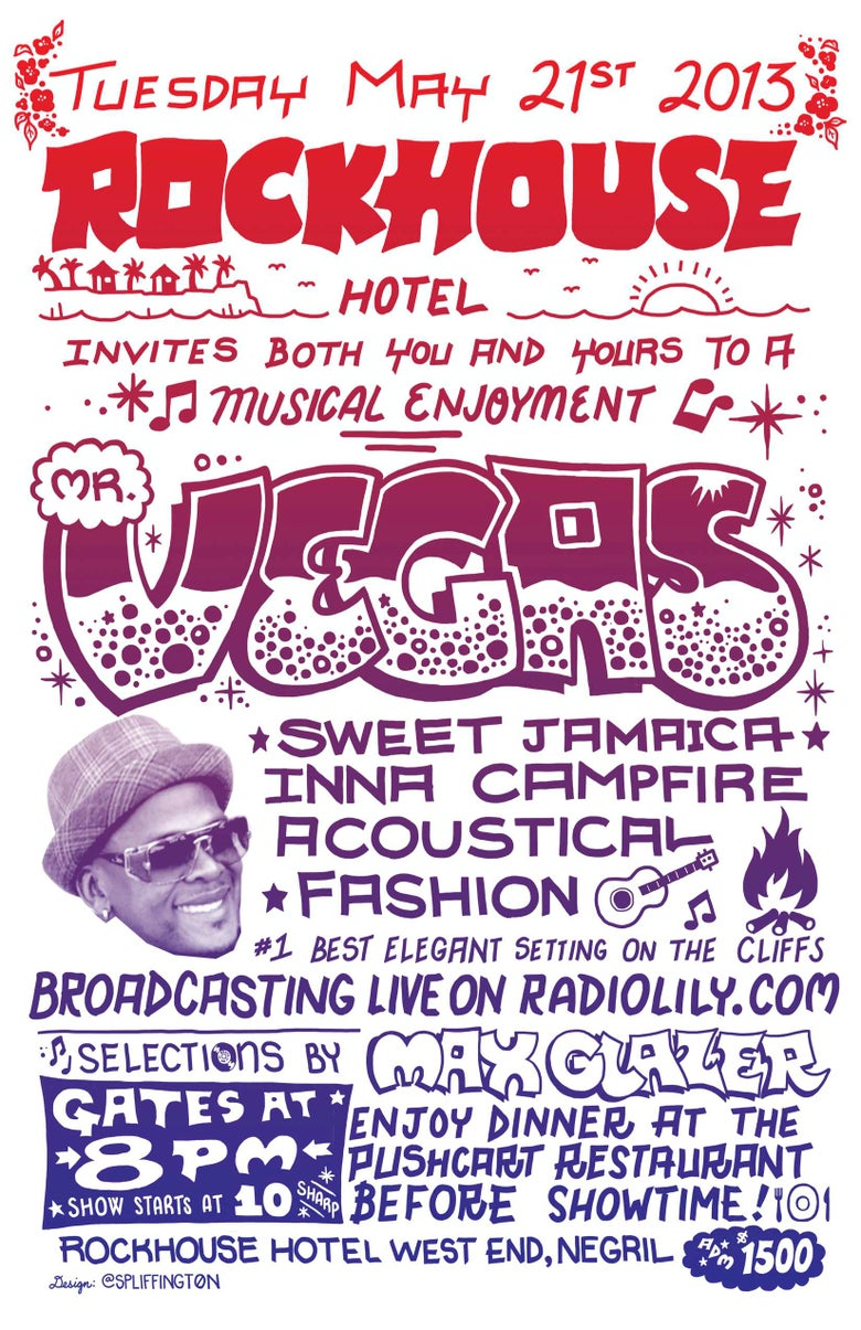 Image of Mr. Vegas Live at Rockhouse Negril Poster