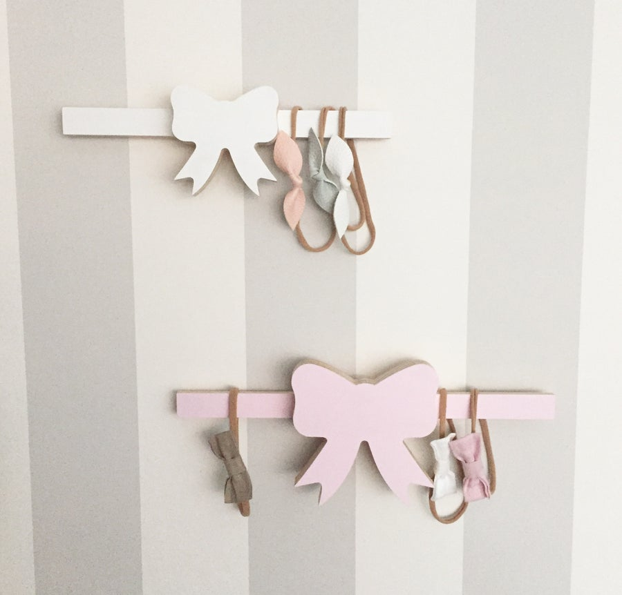 Image of Small bow head band wall hanger 25cm