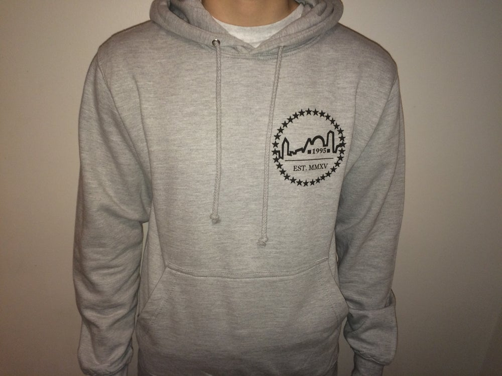 Image of Heather Grey Logo Hoodie