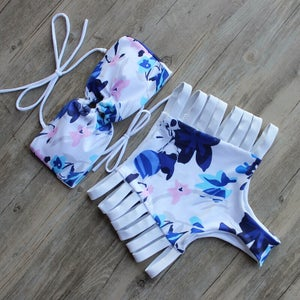 Image of SYNS PRINTED HIGH WAISTED
