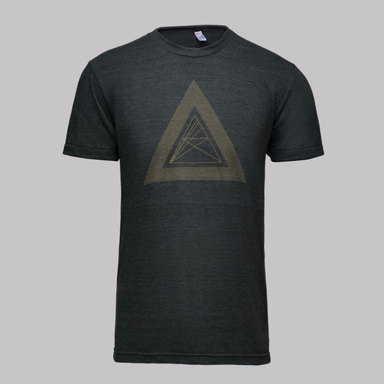 Image of microCastle 'Death Of Geometry' T-Shirt Heather Black