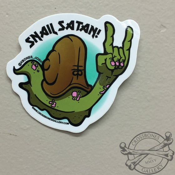 Image of Snail Satan Vinyl Sticker