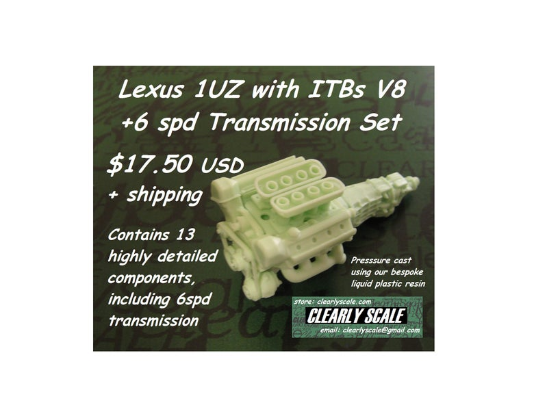 Image of Lexus 1UZ with ITBs V8 Engine + 6spd Set