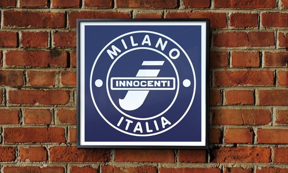 Image of 'Innocenti - Lambretta' Framed Print