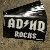 Image of A.D.H.D ROCKS!! sticker