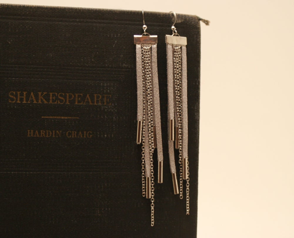 Image of MJ Bijoux ~ Suede Tassel Earrings