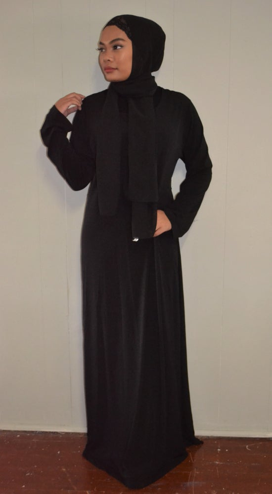 Image of Basic Abaya (Black).